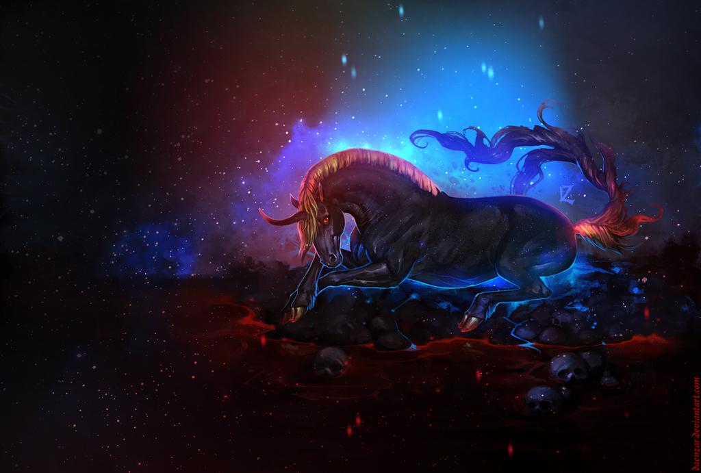 black unicorn by Daenzar