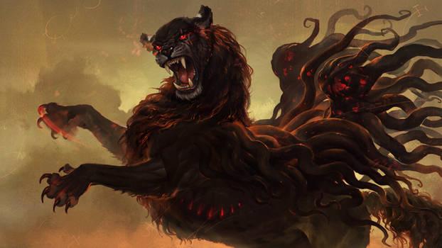 C9 - serpent-winged lion