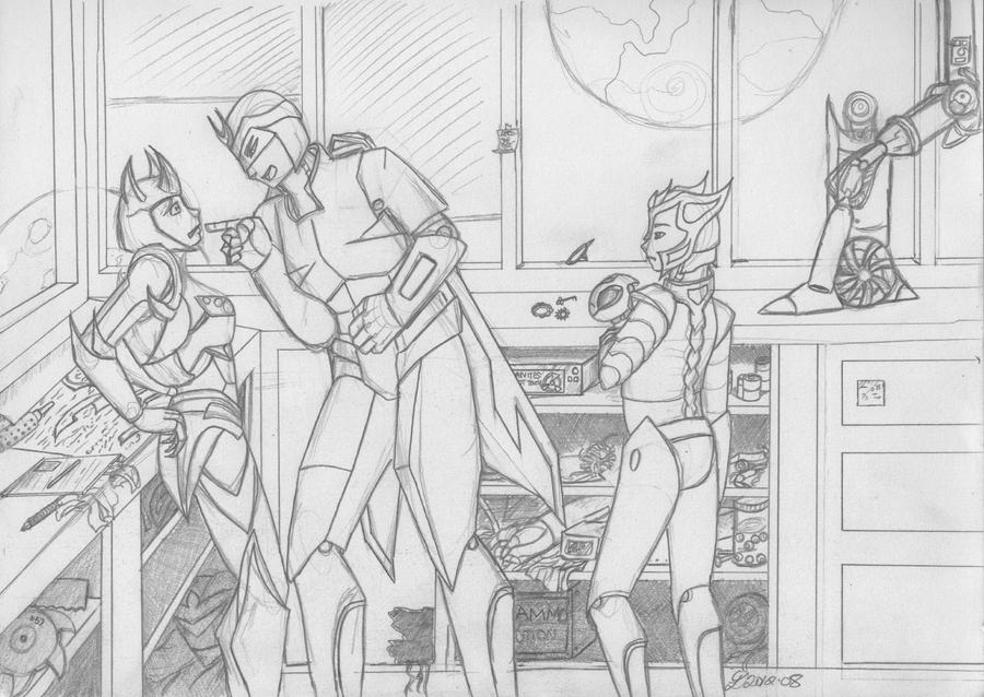 Aero's Fury :Final Sketch: by KyaValentine
