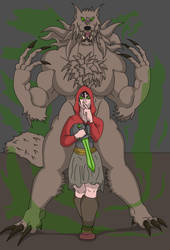 The little red hood Is the big bad wolf by unukthewarrior