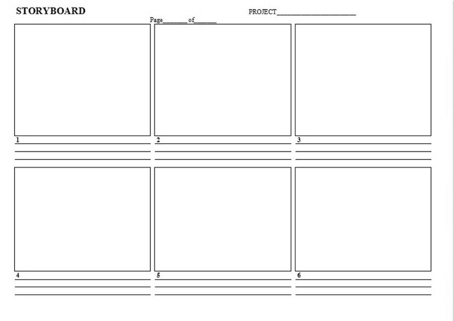 Storyboard Template Word – Storyboard Sample in Word