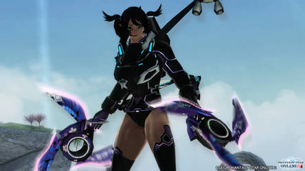 PSO2 2: My first own created Armor / Ready?! by DarkSoniti