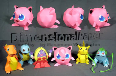 Pokemon Jigglypuff cardmodel by Masamune-Washington