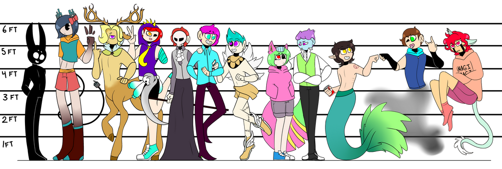 Basic Characters Ref by TheShadow-Kun