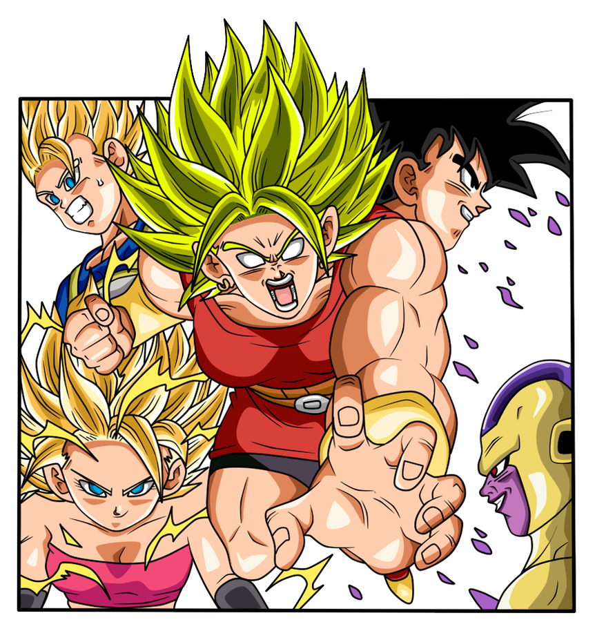 The Saiyans and Frieza by chanmio67
