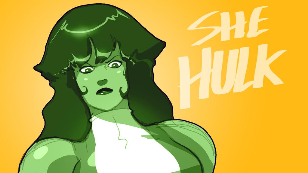 Rule 63 Hulk aka She Hulk by AtomicTiki