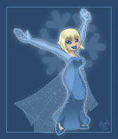 Chill Elsa ($20 Commission) by AtomicTiki