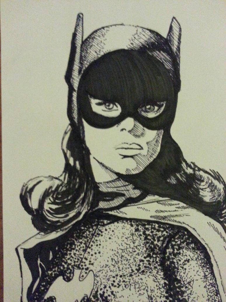 Batgirl #Inktober by AtomicTiki