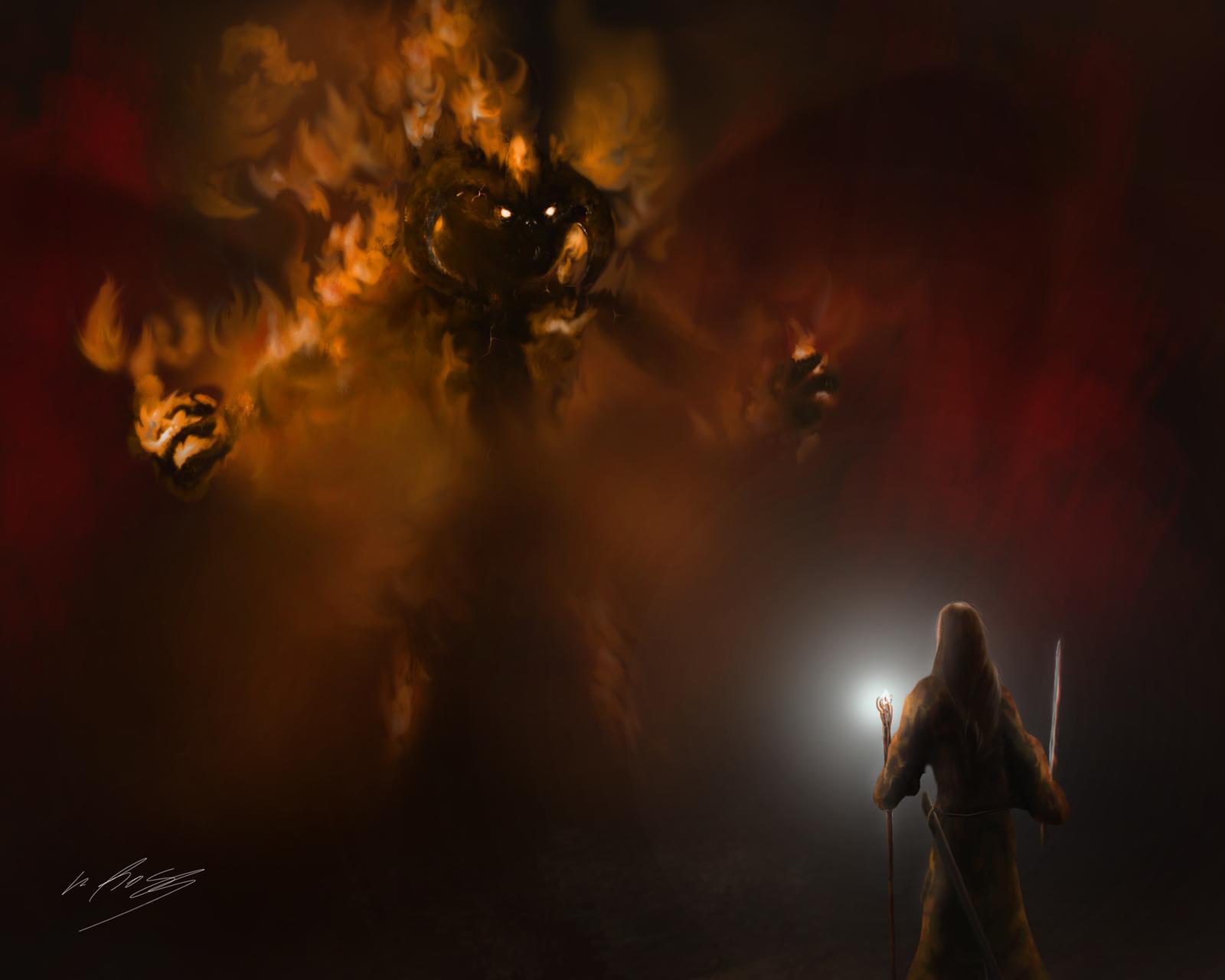 Gandalf Vs Balrog By Gackt En Ciel On DeviantArt