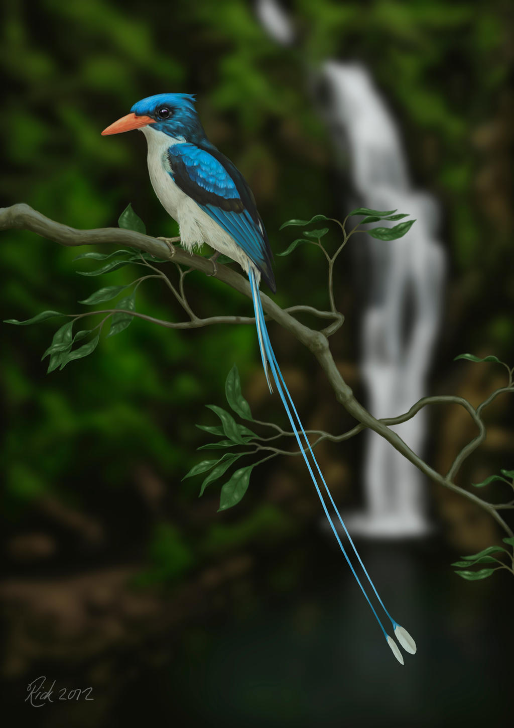 Paradise Kingfisher (Digital Painting) by Rick-Lilley