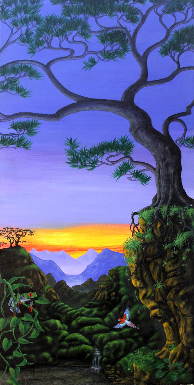 Dawn Chorus (Acrylic) by Rick-Lilley