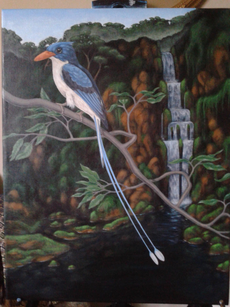 Paradise Kingfisher, acrylic on canvas by Rick-Lilley