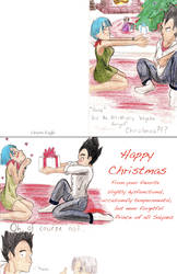 Vegeta Style Christmas Card by Orions-Eagle