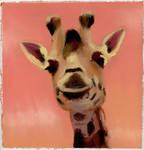 Oil Painting Giraffe