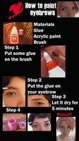 How to paint eyebrows