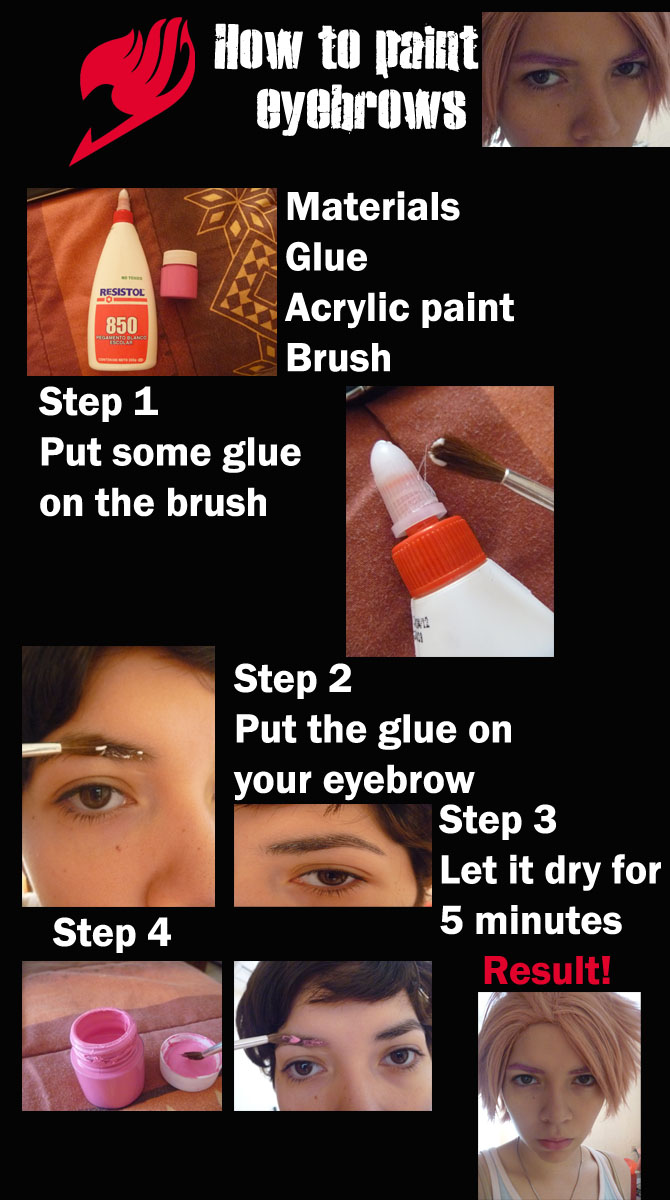 How to paint eyebrows by Glory-chan on DeviantArt