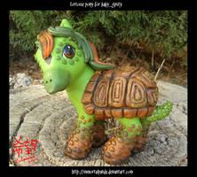 +commission+ Tortoise Pony by ImmortalPanda