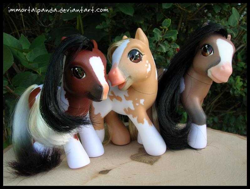 """Wyoming """"Wild"""" ponies trio by ImmortalPanda"""