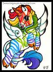 Rainbow Zebrapegacorn ATC