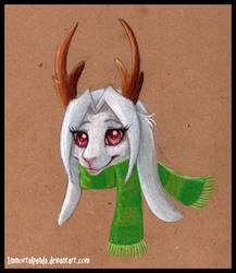 Jackalope girl by ImmortalPanda