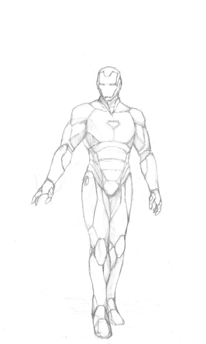 Ironman sketch by hanonly1 on DeviantArt