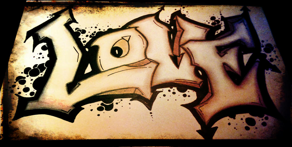 Love Graffiti Sketches Graffiti Love by Dankex