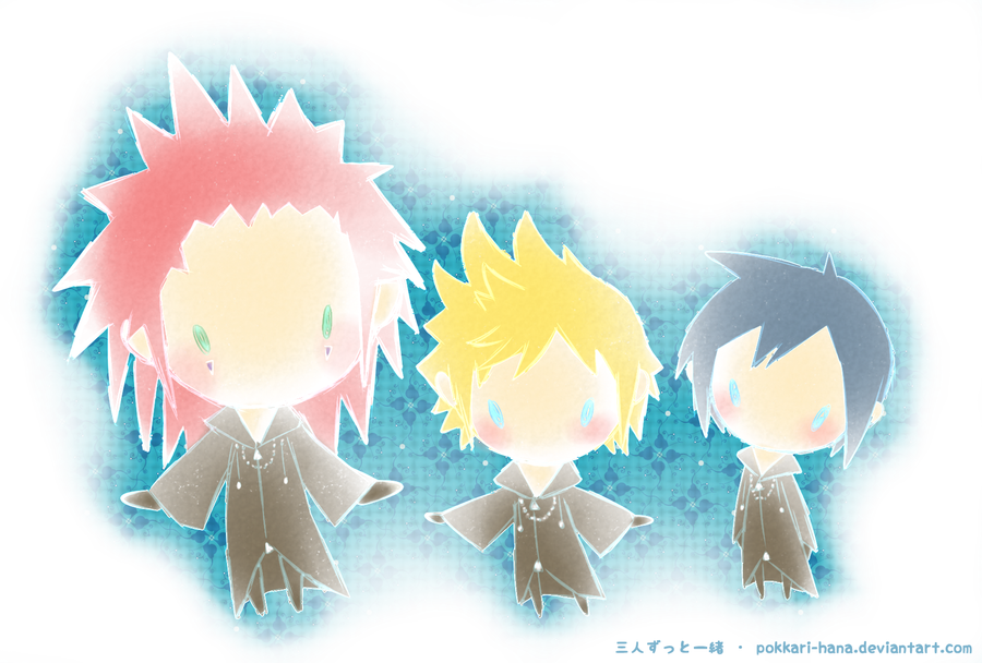 Xion And Roxas And Axel Axel Roxas Xion Always