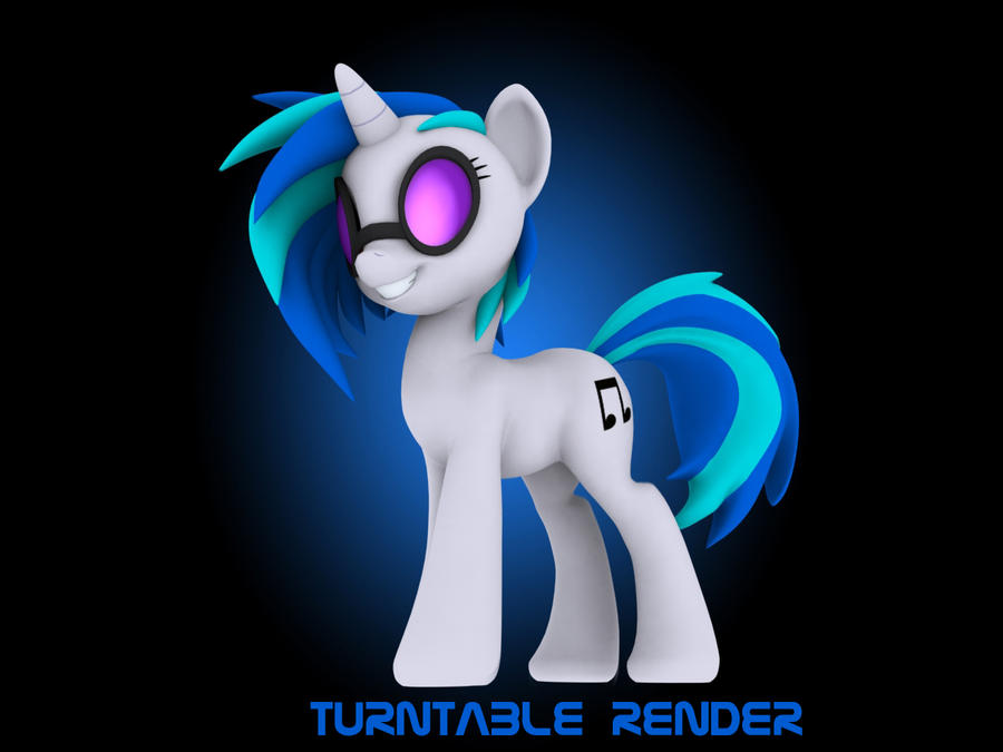 DJ P0n3 Vinyl Scratch 3D Turntable animation by Hashbro