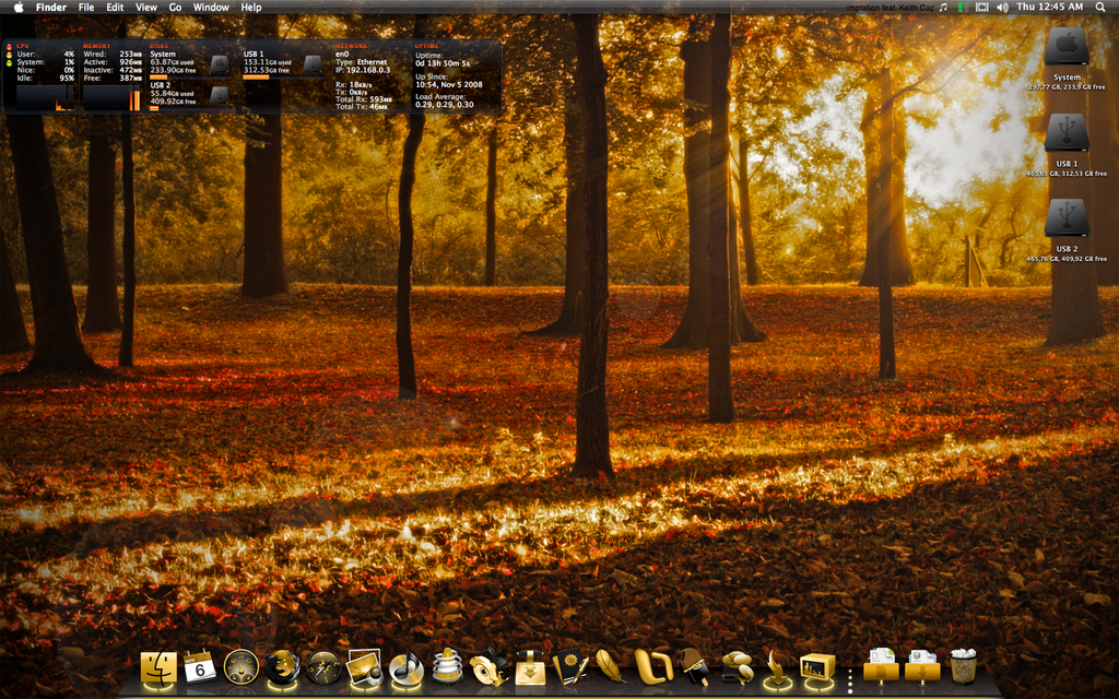 October desktop - Golden fall by windkiss72