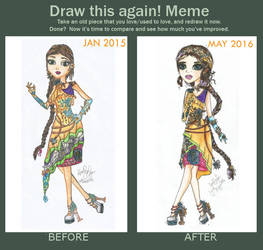 Before and After Meme: EAH OC Diamanty Crysos Gold