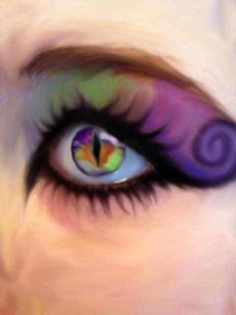 rainbow eye painting by rawripop on DeviantArt