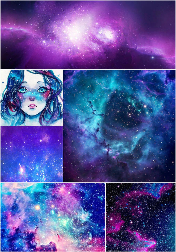 Space Aesthetic Collage by CottonCandyCookies on DeviantArt