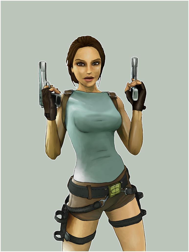 Lara Croft by deviantretard