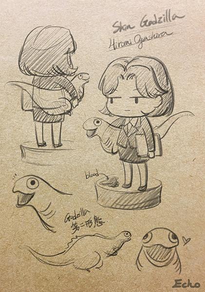 Sin Godzilla Sketch by Puppyorb