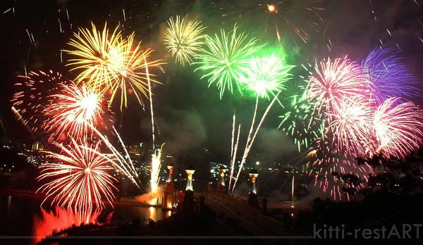 colorfull fireworks by kitti-restART