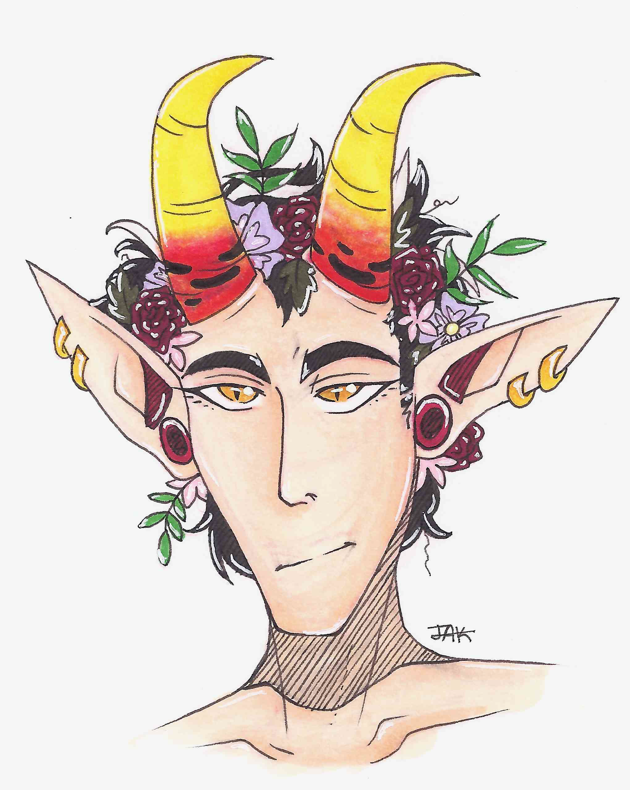 Deviantart Flower Crown Satan In A Flower Crown By Jak Dhcnc