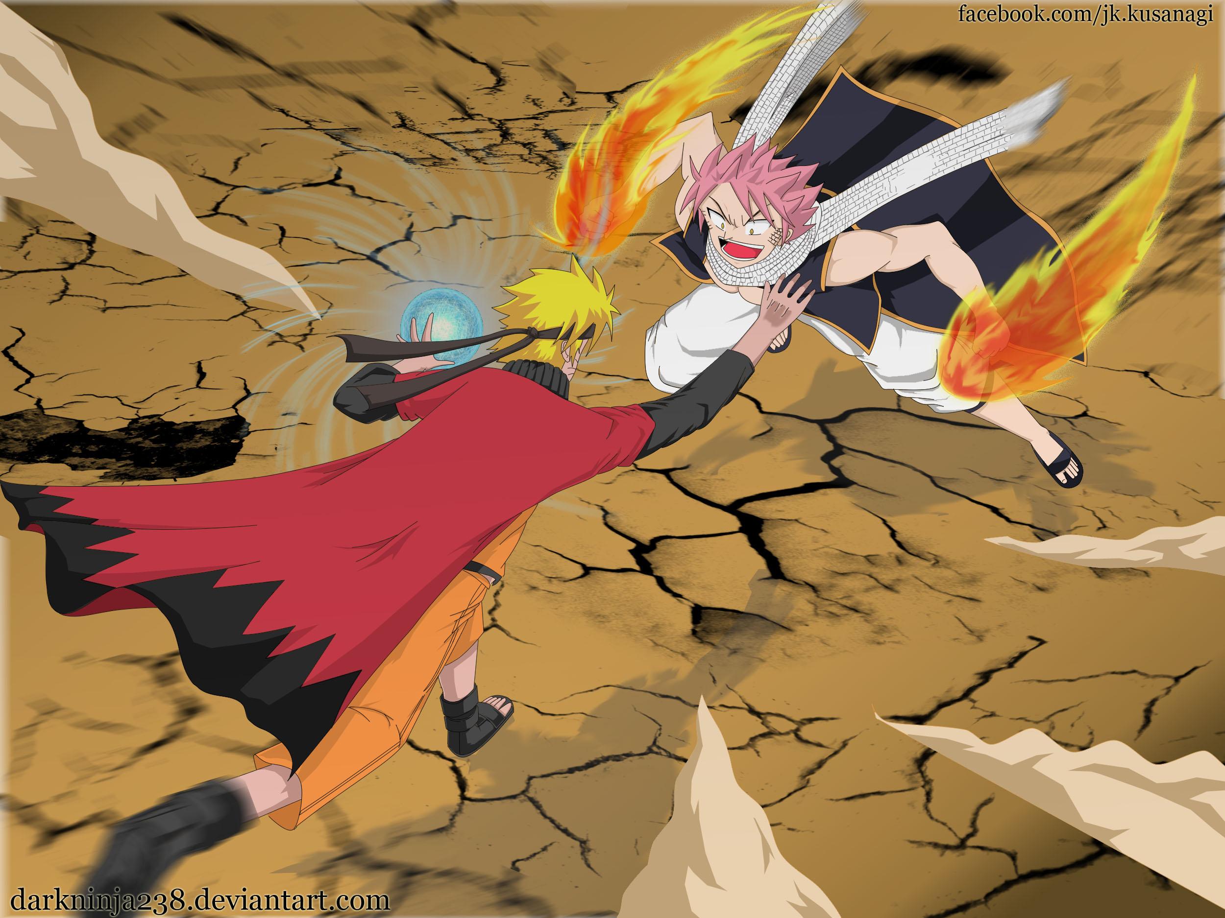 Naruto VS Natsu by darkninja238