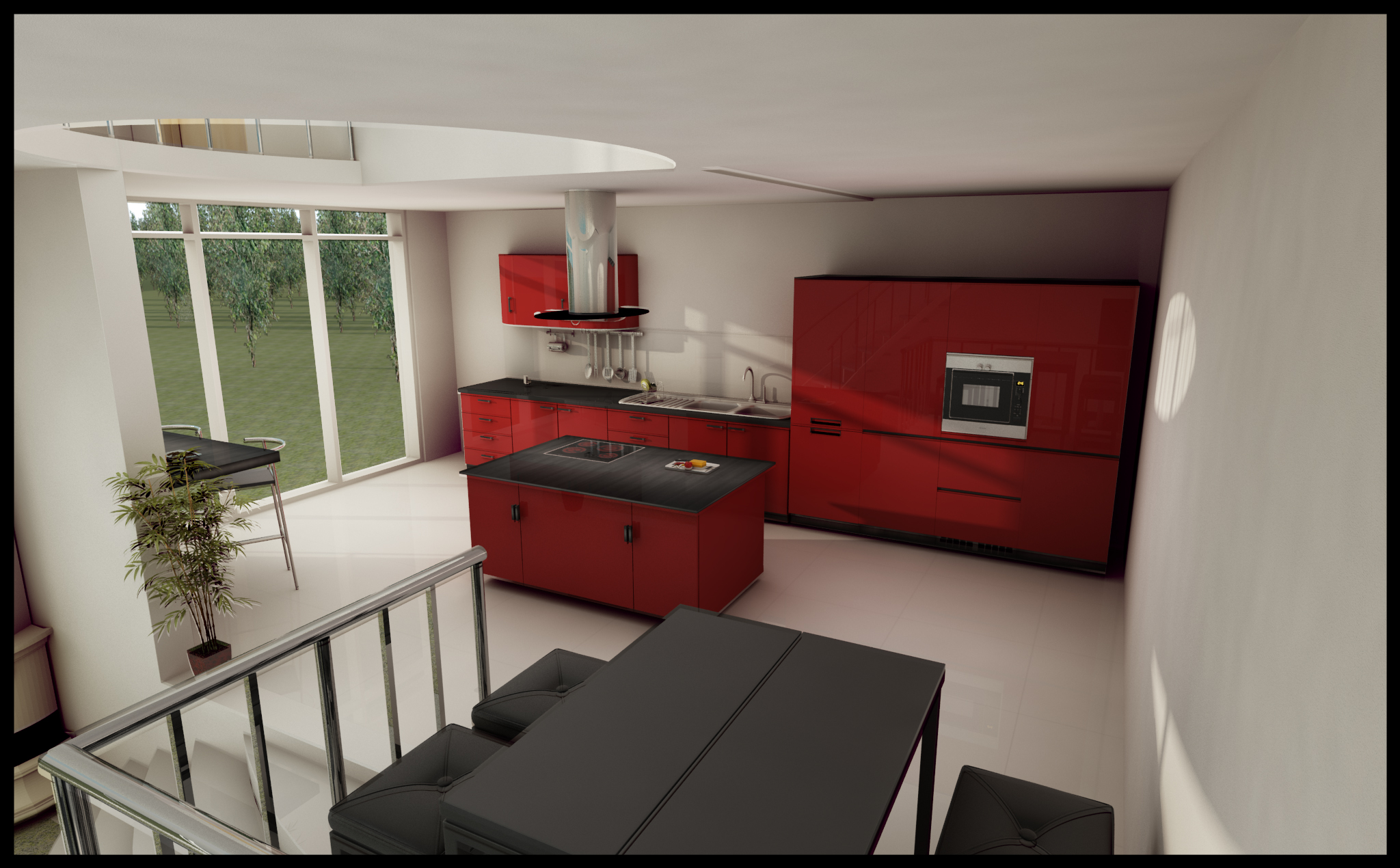 Red Kitchen Design By Dragodraz On Deviantart