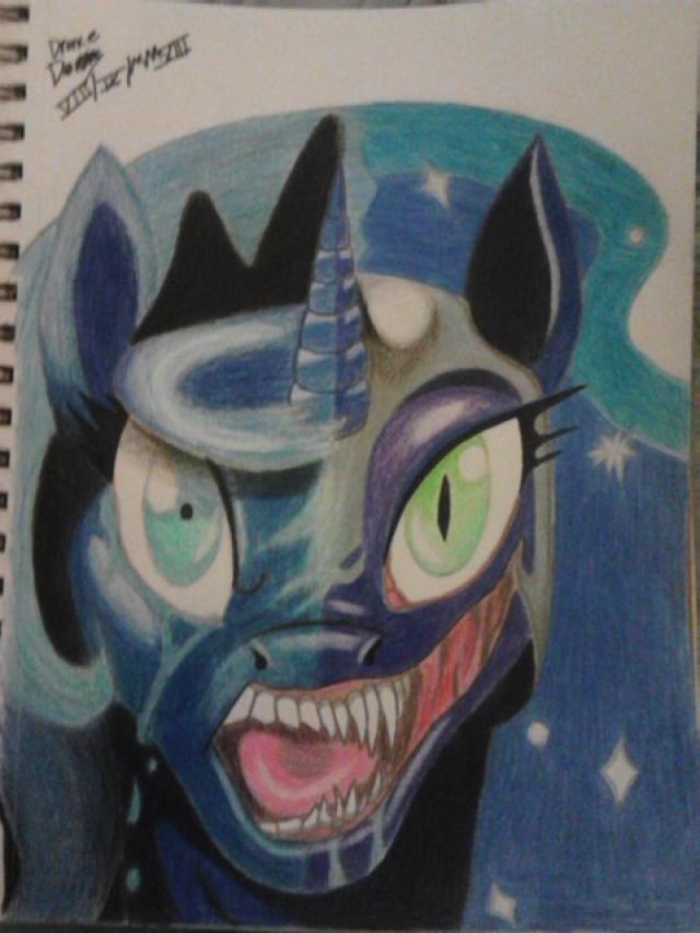 Luna to Nightmare Moon by Duna364