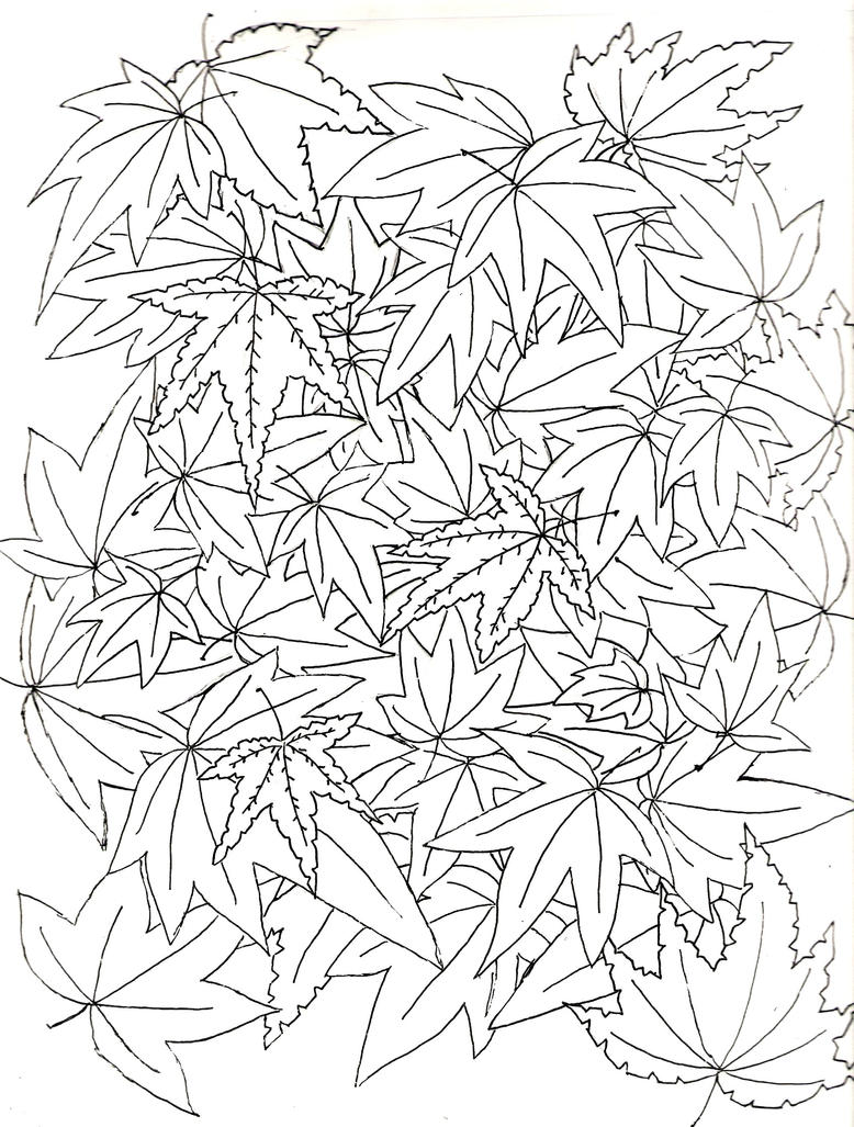 how to draw a leaf pile