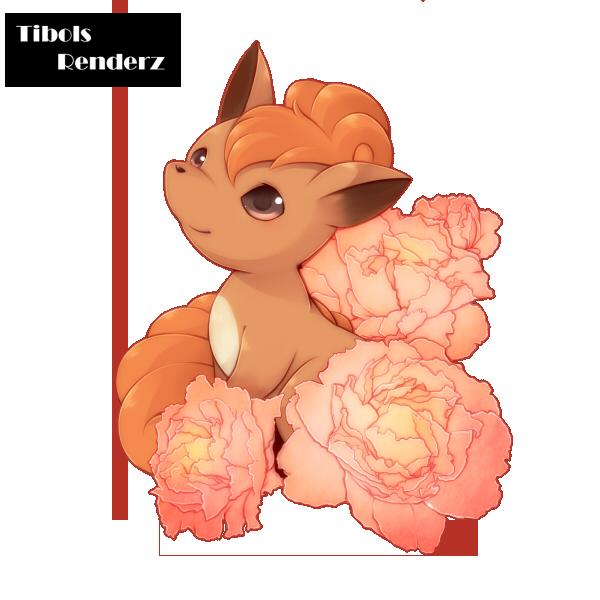Renders Pokémon & Vocaloid Vulpix_render_by_tibolss-d52vm7o