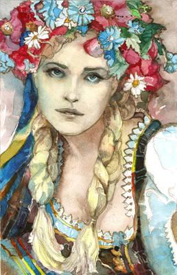 Ukrainian Girl (watercolor)