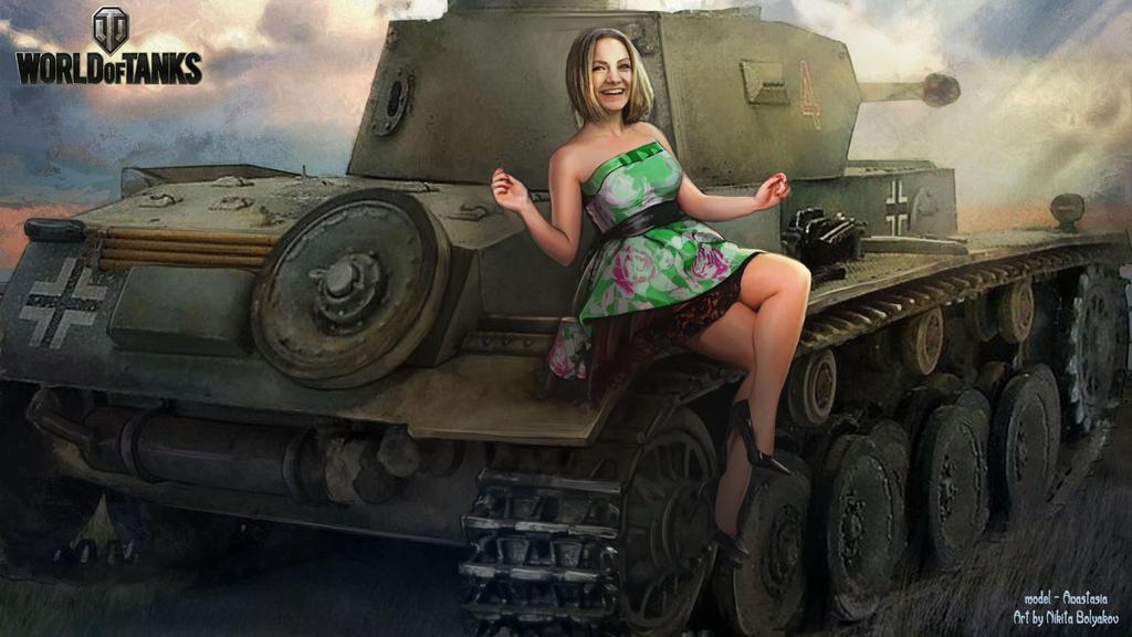 Картинки девушки и танки на рабочий стол