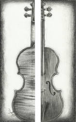 Violin Bookmark by Pyrcias