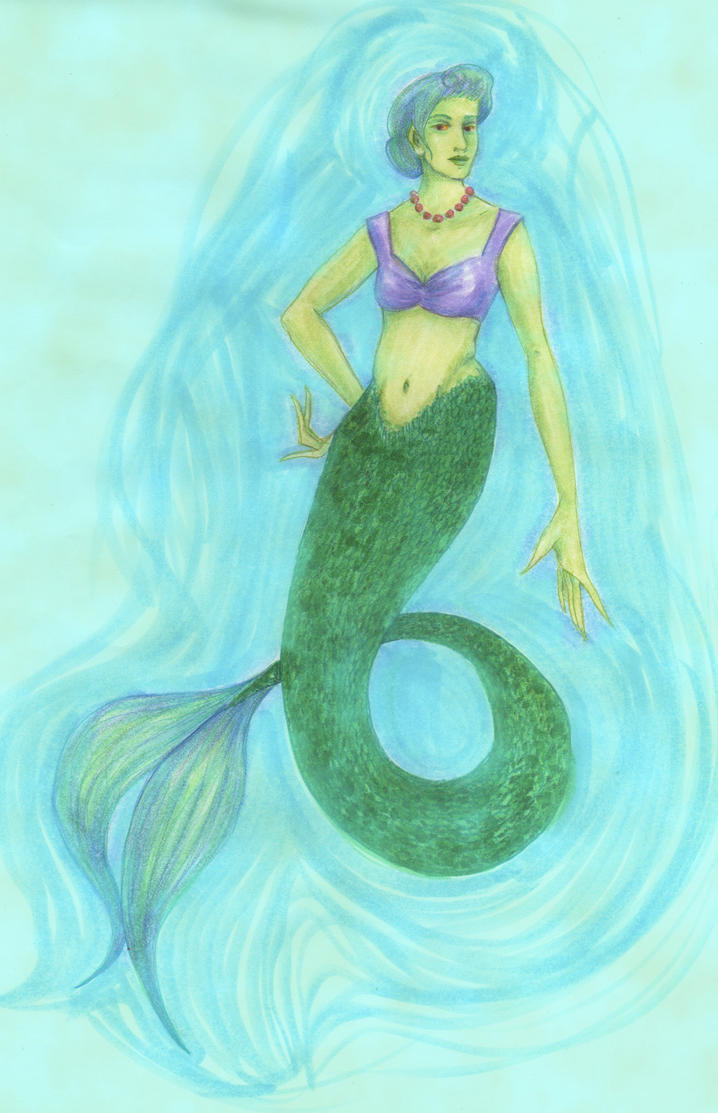 Ixnay, the somewhat judgmental mermaid. by theceruleancreep