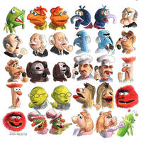 Muppet Gossips by crossstreet