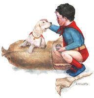 Superbaby Meets His Dog by crossstreet