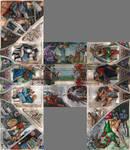 Sistine Chapel Ceiling in Progress