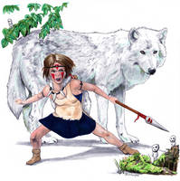 Princess Mononoke by crossstreet