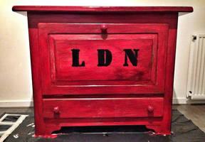 London Phone box Decoupage by VintageBrocante